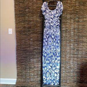 Off the shoulder, maxi dress, size L